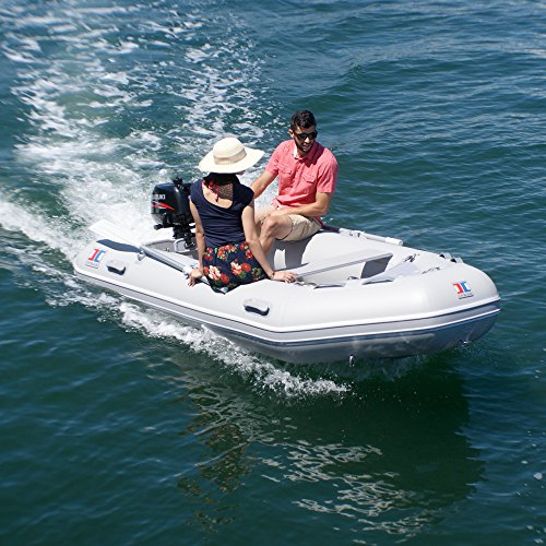 INMAR 240H-TS (8'0'') - Air Floor Dinghy Tender Inflatable Boat - 3 Passenger - Grey