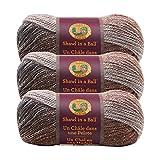 (3 Pack) Lion Brand Yarn 828-307 Lionbrand Shawl in A Ball,Cleansing Quartz