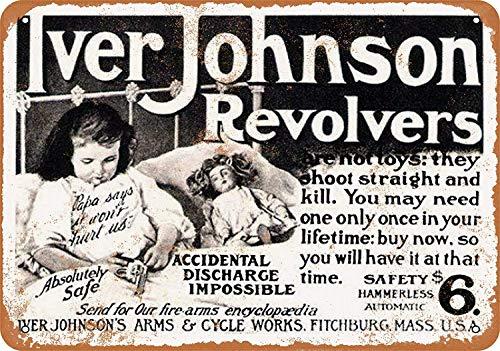MNUT Plaque métallique en Aluminium avec Inscription « 1904 Iver Johnson Revolvers » - 20,3 x 30,5 cm