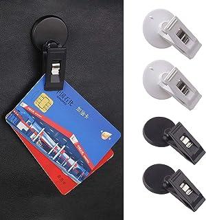 4 supporti per occhiali da sole per auto XPOOS nero, rosso, blu con clip per biglietti e biglietti per auto
