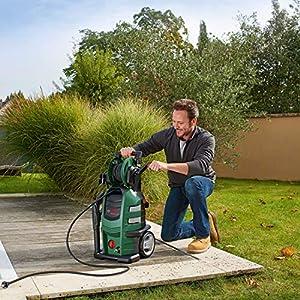Bosch Home and Garden DIY Hochdruckreiniger Advanvedaquatak 160, Hochdruckpistole, 8M Schlauch, 3 Düsen, 3 Lanzen, transparenter Wasserfilter, Karton (2100 W, 150 Bar, 500 L/H), 1 Stück, 06008A7800