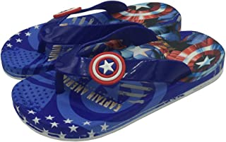 Mag Creations Avengers EVA Kids Flip Flop Slipper Boys & Girls Black and Blue (2.5 Years to 9 Years)