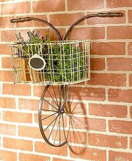 Bicycle Design Metal Wire Wall Basket Indoor/Outdoor Unique Home Decor