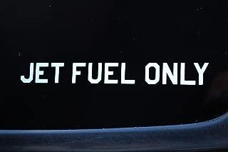 Five STAR SUPPLY Jet Fuel Only Sticker Vinyl Decal Warning Logo Airplane Aviation Pilot Pick Size/Color! (V459) (6