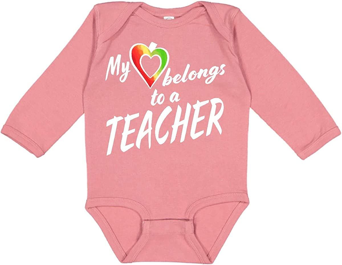 inktastic My Heart Belongs to Creeper Long Daily bargain sale Teacher All items free shipping a Sleeve
