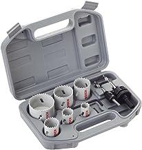 Bosch 2608580862 Set of 9 HSS Bi-Metal Hole Saws Universal 24/ 27/ 32/ 35/ 40/ 52 mm