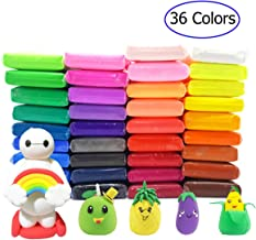 36 PCS Air Dry Clay,Colorful Children Modeling Soft Clay with Tools,Creative Art DIY..