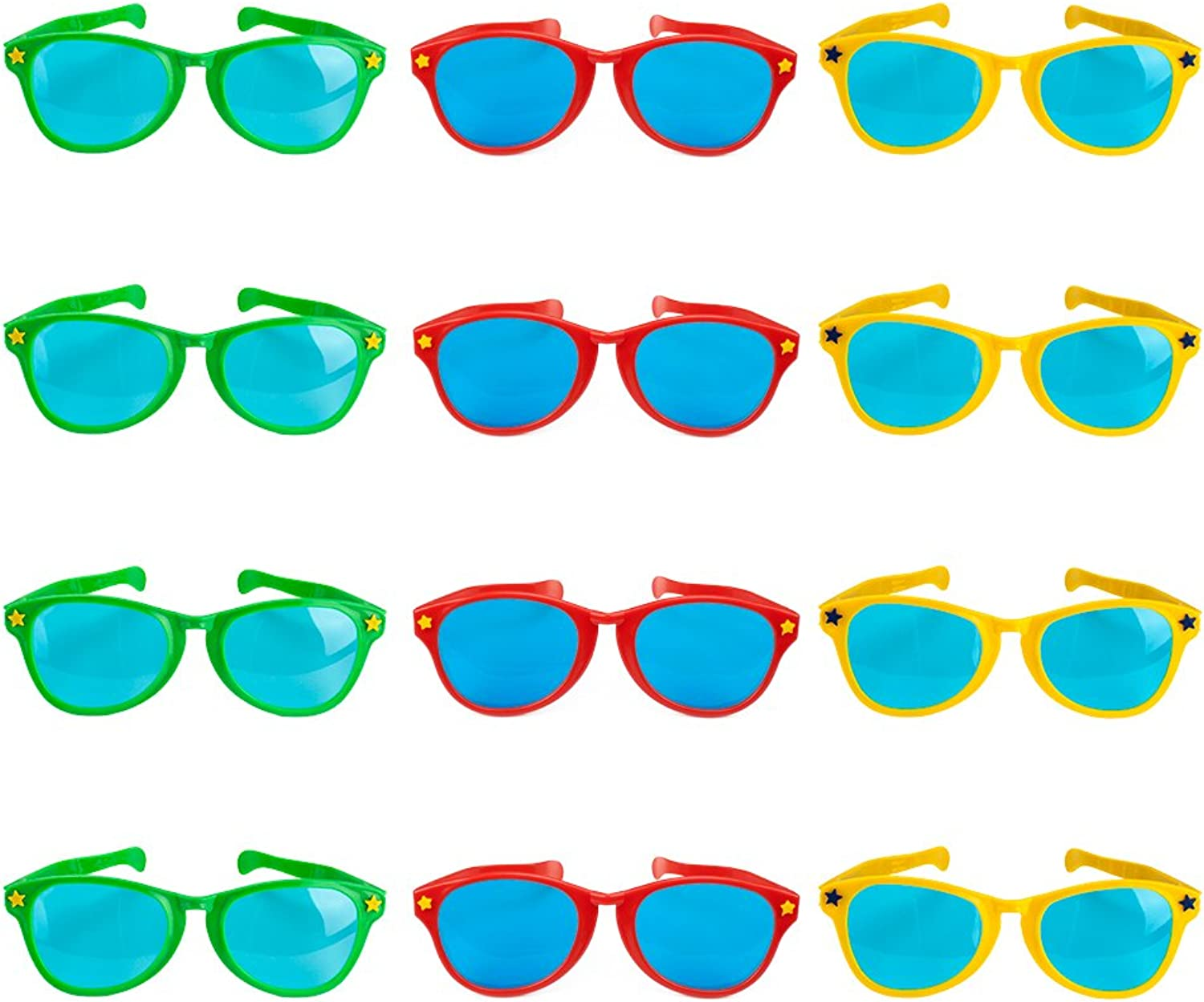 Lot of 12 11  Jumbo Sunglasses by Pudgy Pedro's Party Supplies