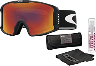 Oakley Line Miner Snow Goggle (Matte Black Frame/Prizm Torch Iridium Lens) with Lens Cleaning Kit