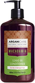 Arganicare Hydrating Macadamia Leave in Conditioner for Dry and Damaged Hair Enriched with Organic Argan Oil and Macadamia Oil (13.5 Fluid Ounce)