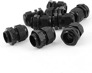 30 Pcs M20 6-12mm Black Plastic Waterproof Cable Glands Connectors 32mm x28 mm