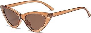 نظارات شمسية نسائية ضيقة من YOSHYA Retro Vintage Cat Eye نظارات شمسية بإطار بلاستيكي