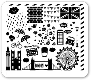 Winstonia Nail Art Stamping Plate Image Stencil Manicure British Design (London Stroll)