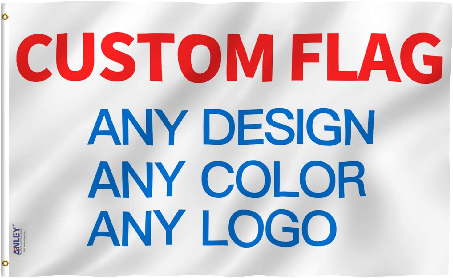 Anley Double Sided Recommendation Custom Flag 5x8 Now on sale Outdoors Print Your - for Ft