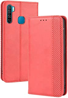 Case for Infinix S5 Lite,Leather Stand Wallet Flip Case Cover for Infinix S5 Lite,Retro magnetic Phone shell,Wallet phone ...