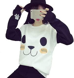 blinkie Kawaii Harajuku Sweatshirt Women Cartoon Panda O-Neck Long Sleeve Hoodies