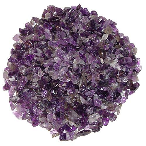 Amethyst 250 Gramm mini Edelsteine Trommelsteine Lade Steine Größe ca. 4-8 mm schöne lila Farbe.(3981)