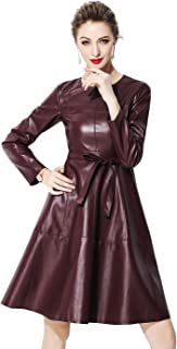 Best red leather zip dress Reviews