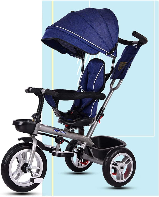 子供のための三輪車1-2歳、子供の三輪車1-2-3-4-5歳の赤ちゃんの三輪車取り外し可能な両親と子供のトライクプッシュハンドルバー(赤)