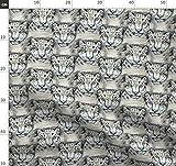 Leopard, Holz, Kiefer, Wildkatze, Zoo Stoffe - Individuell