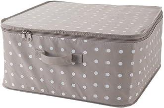 Compactor Rivoli Storage Bag with Zip 46 x 46 x 20.5cm, Cappuccino/White, Brown, L