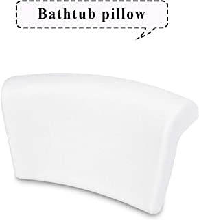 Bathtub Pillow, Neck & Back Support-Auma Luxury Spa Bath Cushion, Extra Soft Ergonomic Bathtub Pillows with 2 Powerful Non-Slip Suction Cups,Thick,Waterproof Pillow for Tub