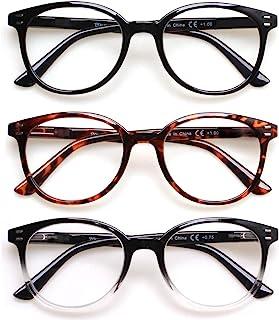 3 Pack Reading Glasses Spring Hinge Stylish Readers Black/Tortoise for Men and Women