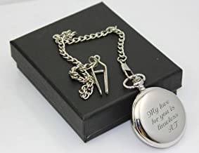 Personalized Silver Pocket Watch Engraved Free