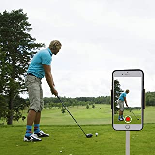 XLHVTERLI Golf Phone Holder Clip Golf Swing Recording Training Aids,Record Golf Swing/Short Game/Putting,Golf Accessories,Universal Smartphone Holder for The Golf Trolley,car Holder, (Black) (Black)