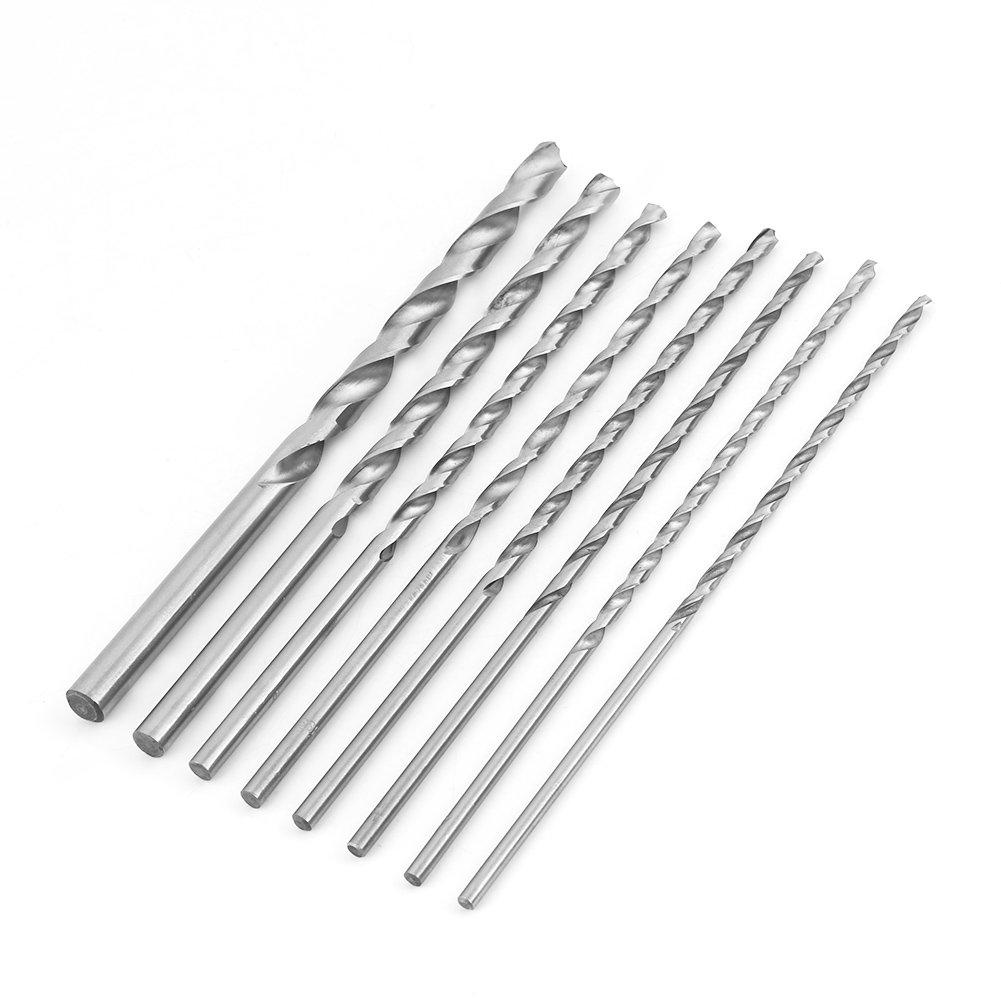 Akozon Extra Long Drill Bit Set Steel 8pcs Phoenix Mall High-Speed Ranking TOP3 Str 4-10mm