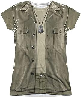 MASH War Comedy TV Series Movie Army Greens Costume Junior 2-Sided Print T-Shirt
