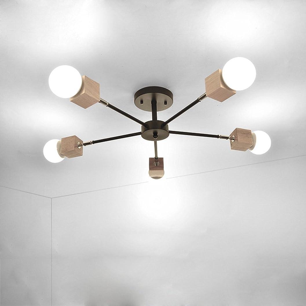 注文家事スピンDCCRBR シンプルなリビングルーム天井5ライトレストランマスターベッドルームランプ創造的な人格研究子供部屋アートランプ 天井シャンデリア