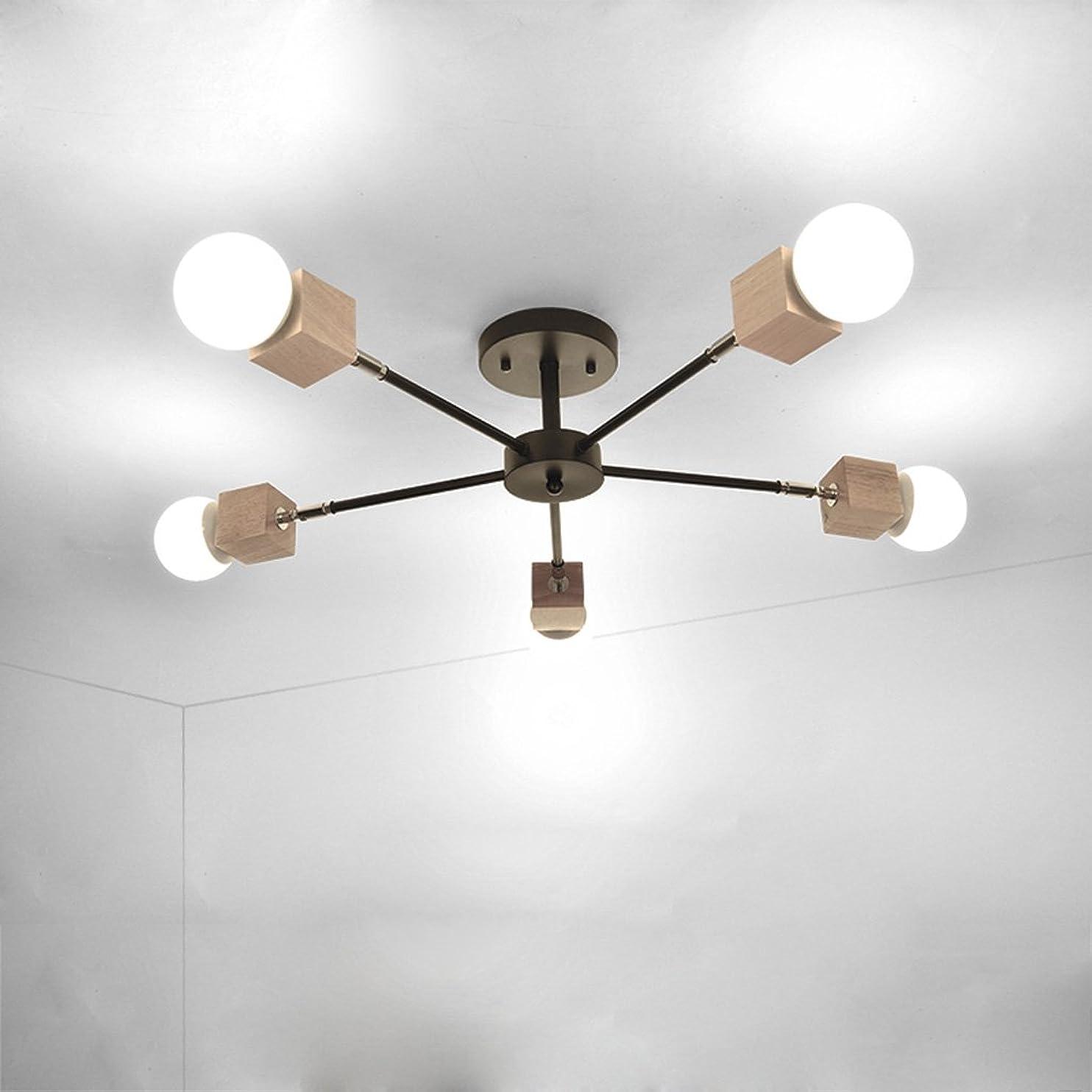 喜劇ファイター近所のDCCRBR シンプルなリビングルーム天井5ライトレストランマスターベッドルームランプ創造的な人格研究子供部屋アートランプ 天井シャンデリア