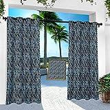 Aishare Store - Cortinas para interiores y exteriores, diseño árabe, ornamental de Oriente Medio, 254 x 274 cm, cortinas de pérgola para exteriores (1 panel)
