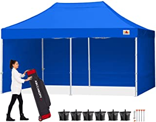 ABCCANOPY Canopy Tent 10x20 Pop Up Canopy Tent Commercial Instant Shade Tent with Upgrade Roller Bag, Bonus 4 Weight Bags, Stakes and Ropes
