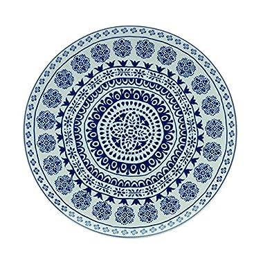 Fitz & Floyd IG31036 Blue Antico Round Platter-14  Serving, White/Blue