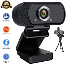 Lasllaves HD Webcam 1080P,Live Streaming Webcam USB Plug and Play Web Camera for PC..