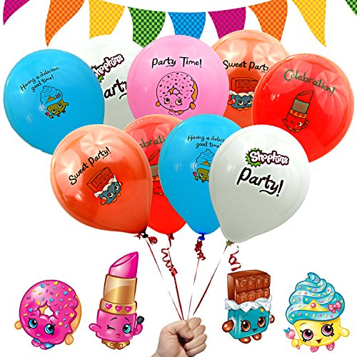 Shopkins Birthday Party Decorations Favors Balloons 12' Printed Latex...