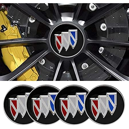 Bonifion 4 x 56mm Car Lettering BBS Wheel Center Cap Sticker Wheel Emblem Badge Logo Stickers fit buick black