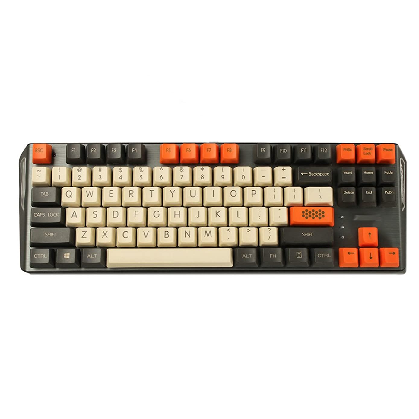 YMDK Carbon 61 87 104 Top Print Keyset Thick PBT OEM Profile Keycaps for MX Mechanical Keyboard (87) ykw0490172643