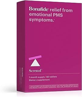 Bonafide – Serenol Multi-Symptom PMS Relief – Drug-Free PMS Treatment – 60 Tablets (1 Month)