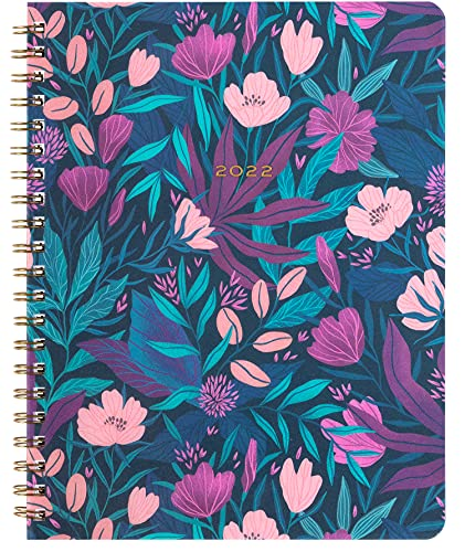 2021-2022 Eccolo Large Desk Size Poly Cover Spiral Agenda Planner, 18 Months of Monthly & Weekly Views, 8.5 x 11'