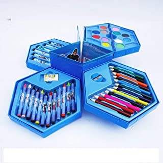 BabyBaba Colors Box Color Pencil ,Crayons, Water Color, Sketch Pens Set of 46 Pieces (Random) (Random for Boys)