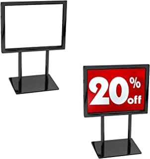 Countertop Sign Holder, Heavy Duty Metal Tabletop Black Card Display, 5.5
