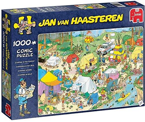 Jan van Haasteren in The Forest, Piece Jigsaw Puzzle de 1000 Piezas para Camping en el Bosque, Multicolor (Jumbo 19086)