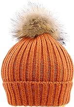 OhradWord Newborn Baby Boys Girls Knitted Crochet Wool Hat Beanie Pompon Warm Winter Cap Bead Turban