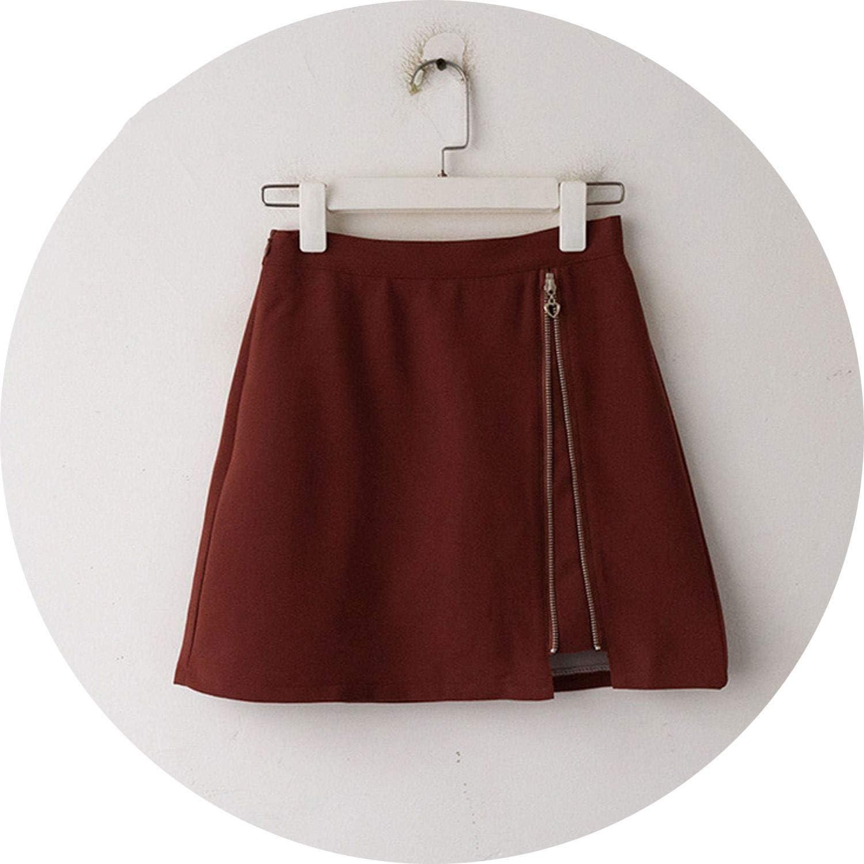Getin Zipper Sexy Mini Skirt Summer Asymmetrical High Waist Skirt Women Hip Up A Line Short Skirt