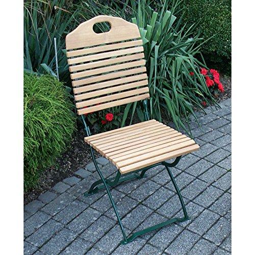 Gartenmoebel Gartenstuhl BAD TÖLZ grün 2er Set, Robinien Holz, klappbar