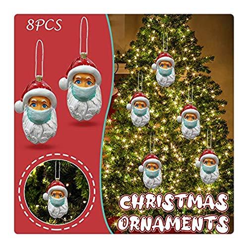Tihuunwz 8PC Christmas Decorations Santa Gift,Personalized Santa Claus of Ornament 2020 Christmas Holiday Decorations 194E