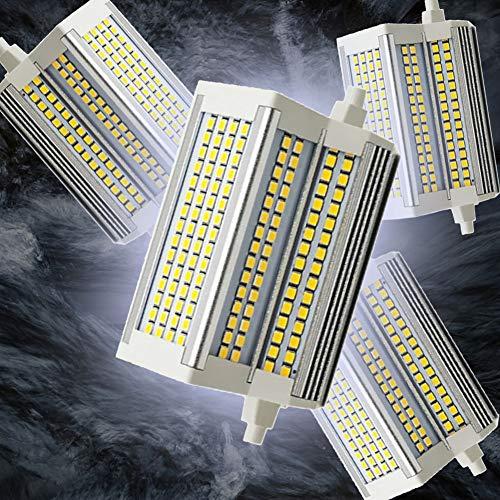 Bulbs 4 unids R7S LED Dimmable LED Bombilla 118 mm 110-240V LED R7S Lámpara Base Floodlight Luz Lineal 220 ° Ángulo de Haz de 5400LM 6000K Fundación halógena de Ahorro de energía